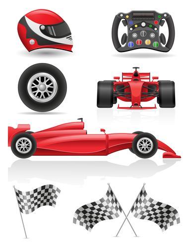 stel race iconen vector illustratie EPS 10