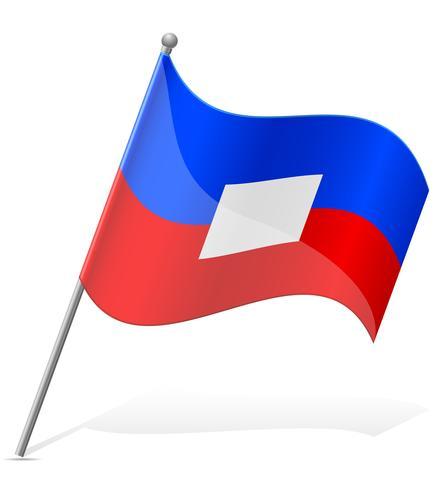 vlag van Haïti vectorillustratie vector