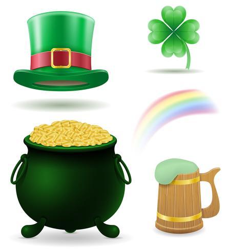 Saint Patrick's Day instellen pictogrammen voorraad vectorillustratie vector