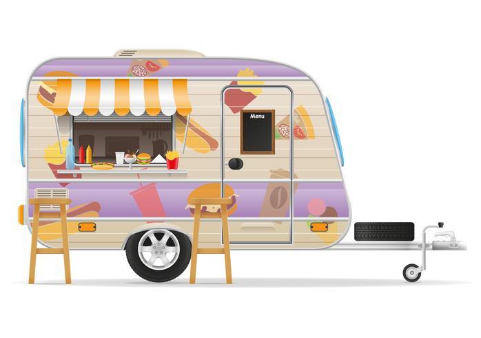 fast-food aanhangwagen vector illustratie