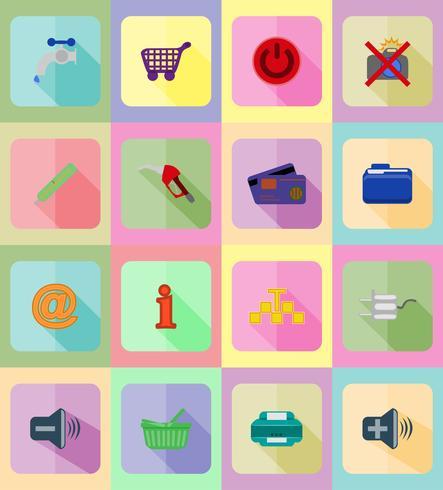 service plat pictogrammen vector illustratie