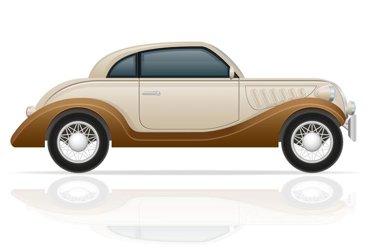 oude retro auto vectorillustratie vector