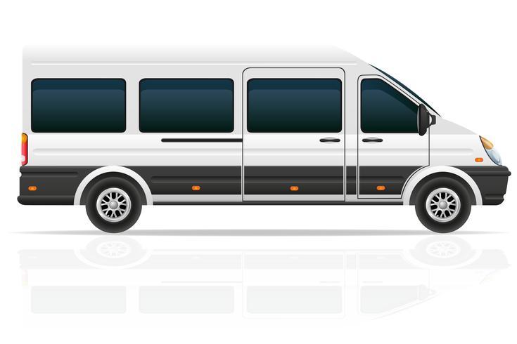 Minio bus voor het vervoer van passagiers vectorillustratie vector