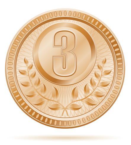 medaille winnaar sport bronzen voorraad vectorillustratie vector