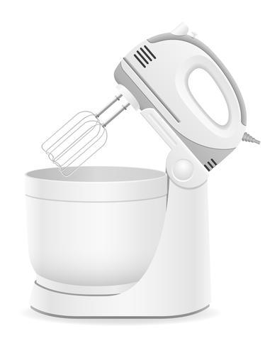 keukenmixer vectorillustratie vector