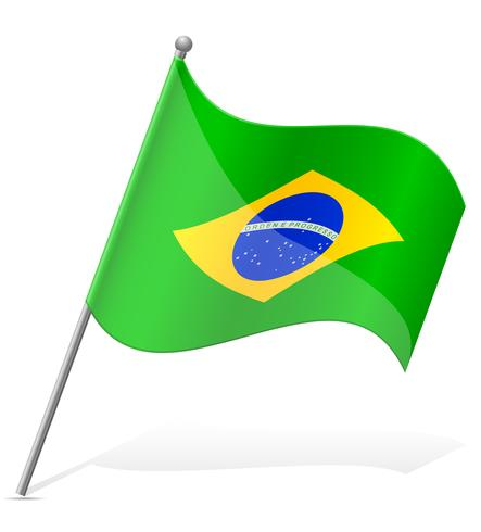 vlag van Brazilië vectorillustratie vector