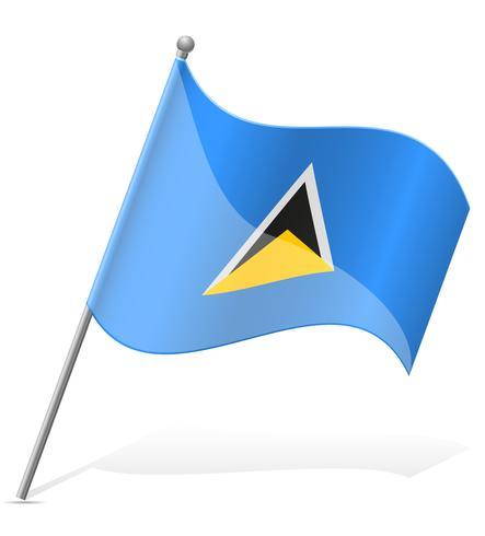vlag van Saint Lucia vector illustratie