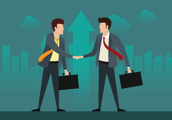 Twee zakenman op een deal vector