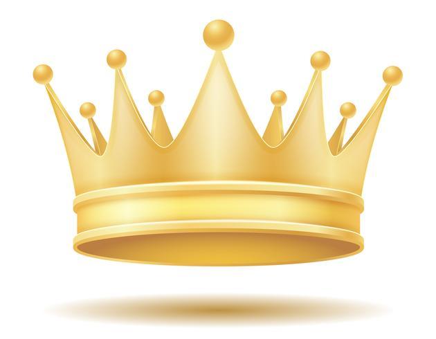 koning koninklijke gouden kroon vectorillustratie vector