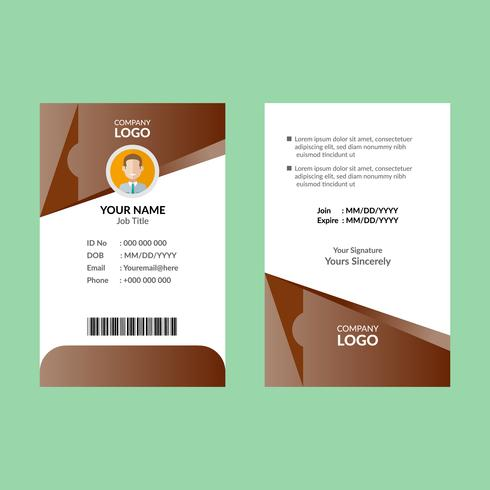 Bruine identiteitskaart vector