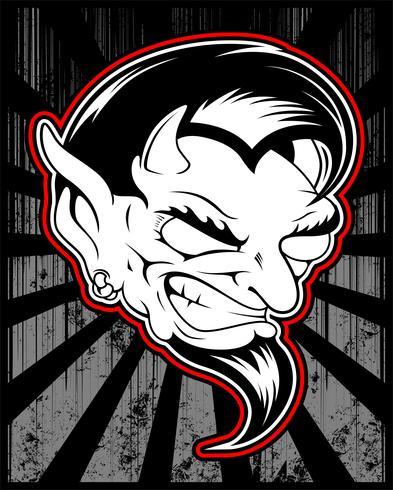 lucifer, evil, satanic demon vector hand drawing
