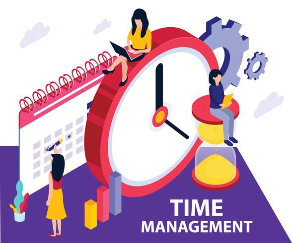 Time Management isometrische Artwork Concept vector