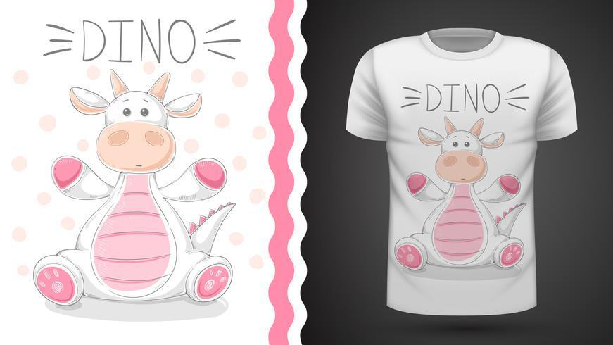 Grappig dino - idee voor print t-shirt vector
