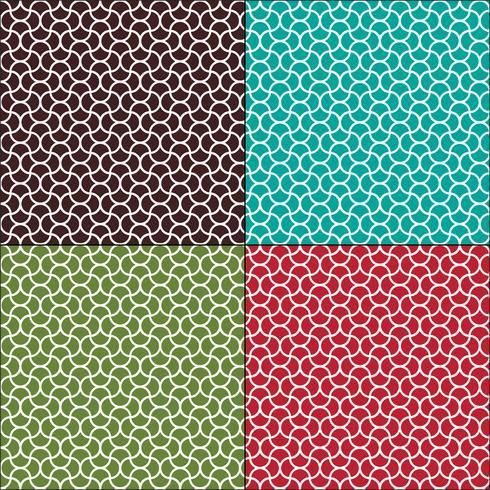 naadloze golvende Marokkaanse geometrische patronen vector