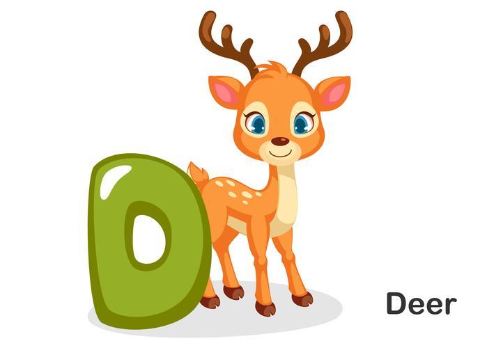 D voor herten vector
