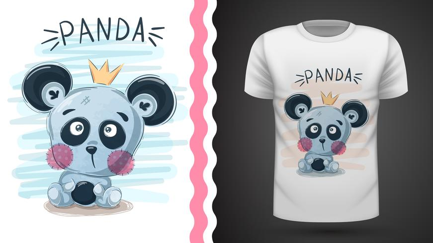 Leuke panda - idee om af te drukken vector