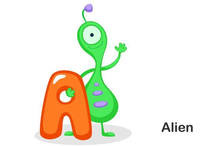 A voor Alien vector