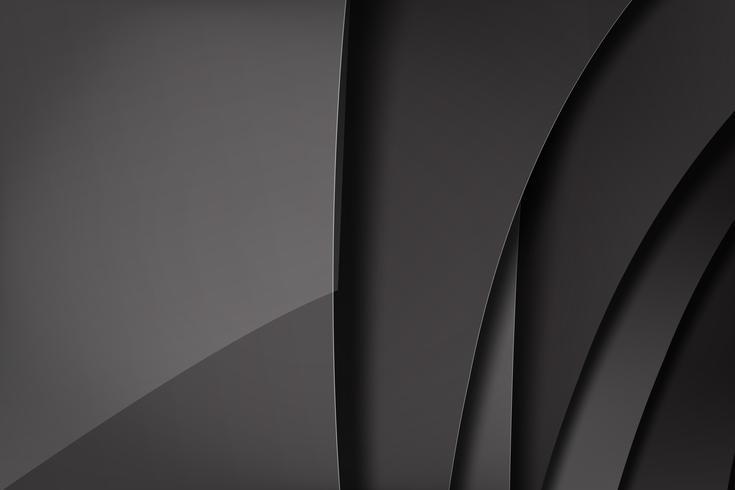 Abstracte achtergrond donker en zwart overlapt 010 vector