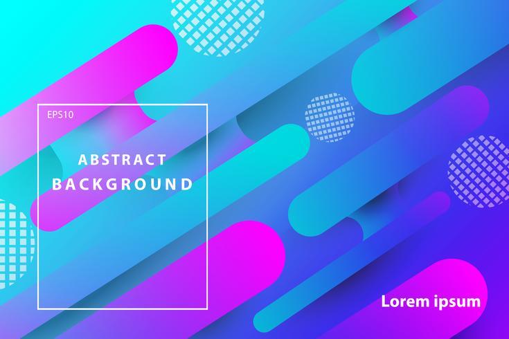 kleurrijke abstracte geometrische met donkerblauwe en roze dekking en behangachtergrond vector
