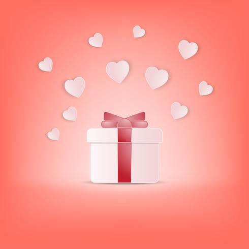 Creatieve gelukkige Valentijnsdag briefkaart vectorillustratie. vector