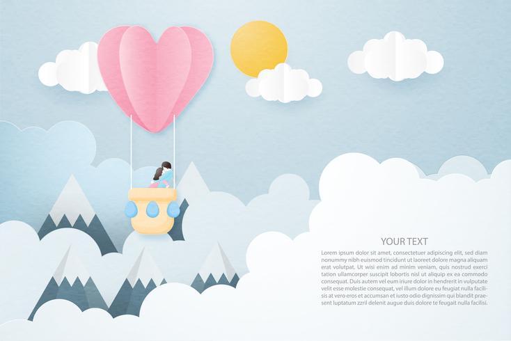 Creatieve liefde uitnodiging kaart Valentijnsdag concept. vector