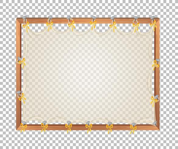 Transparant leeg houten bord vector