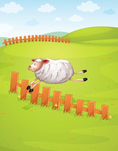 een schaap in een boerderij vector