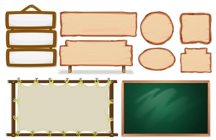 Set van leeg bord vector