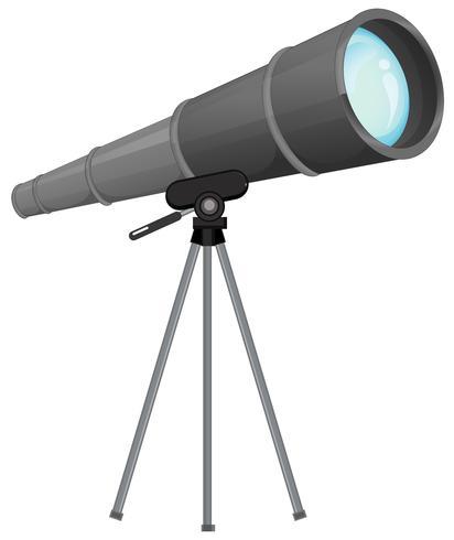 Een telescoop op wgite achtergrond vector