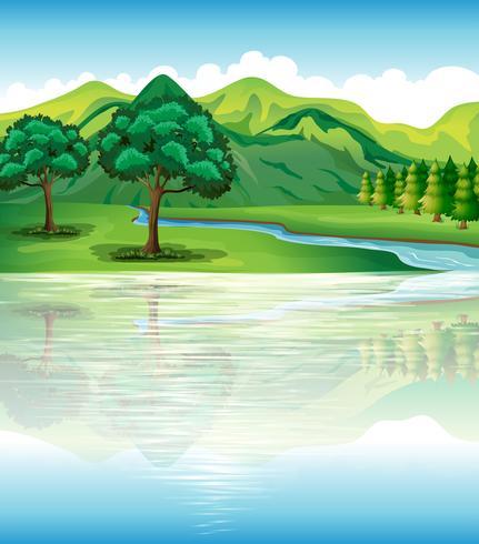 Onze natuurlijke land- en waterbronnen vector