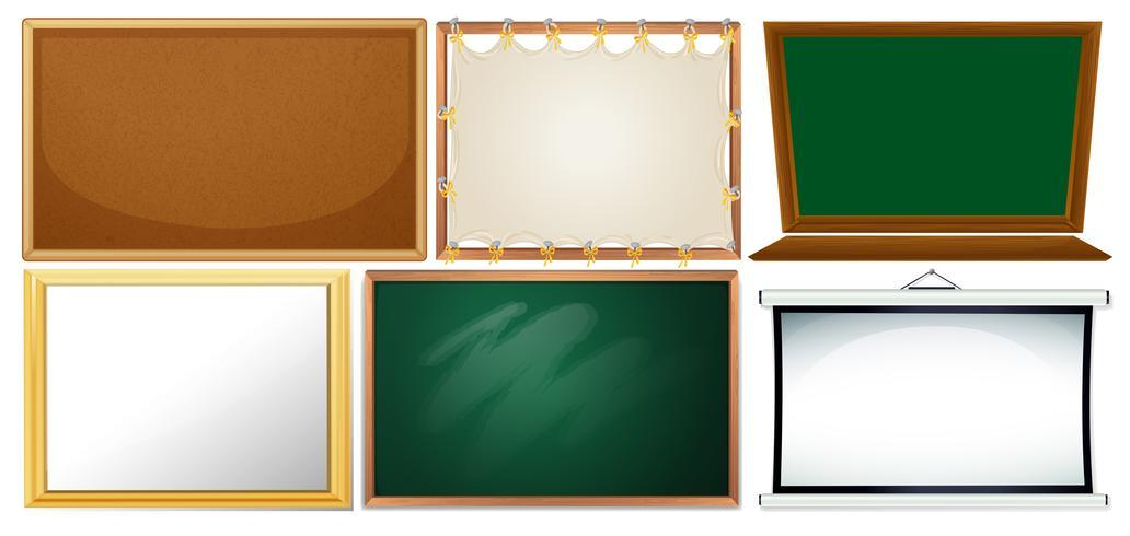 Set van verschillende bord vector