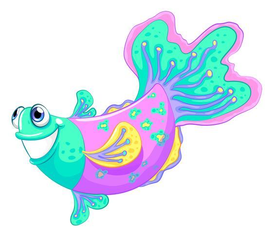 Een kleurrijke vis vector