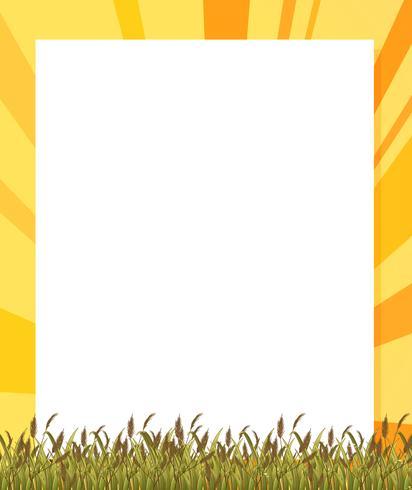 Een lege papieren sjabloon met planten aan de onderkant vector