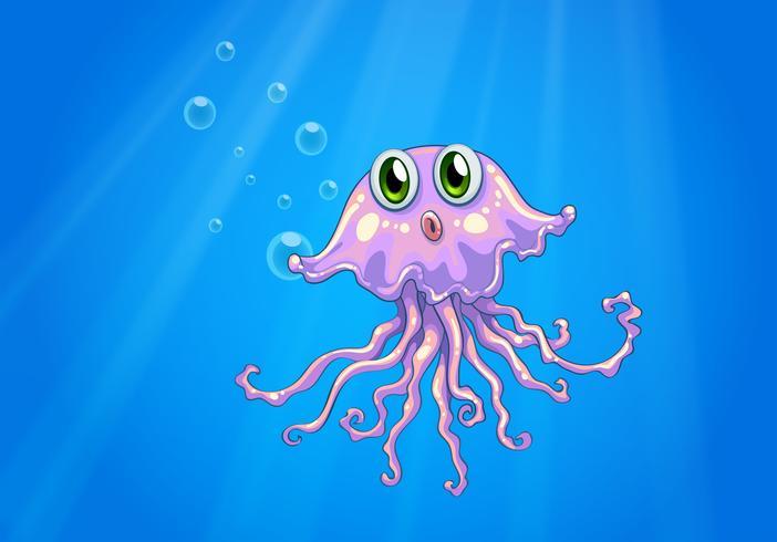 Een octopus onder de zee vector