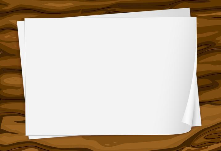 Lege vellen papier vector