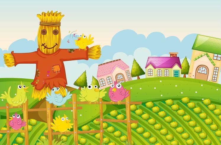 een boerderij vector