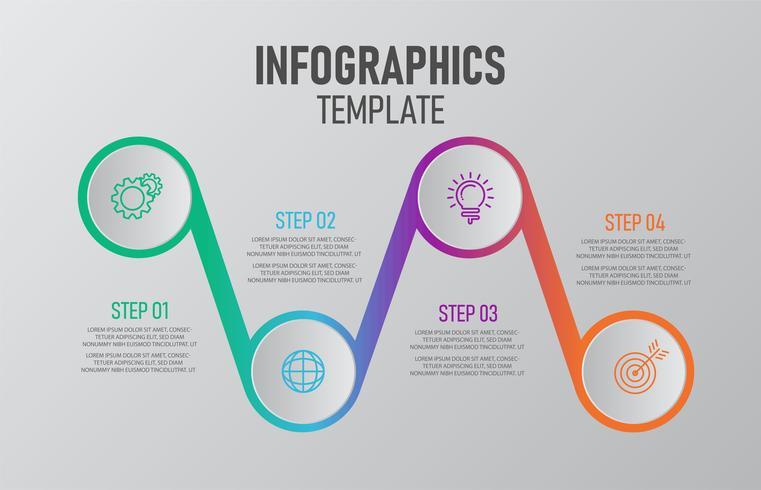 Infographic-sjabloon voor het bedrijfsleven. vector