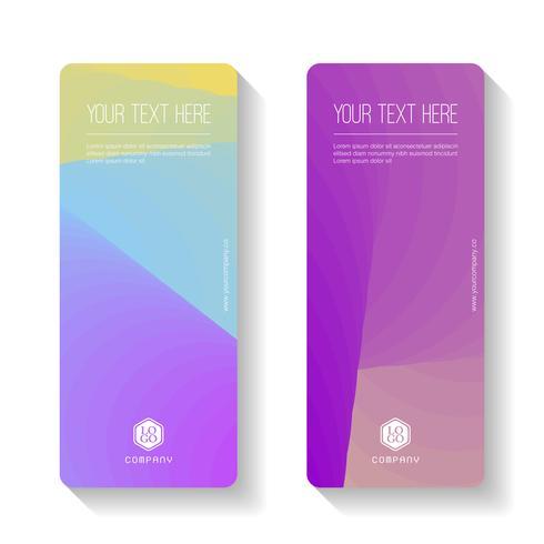 Kleurrijk Gradiënt Abstract bedrijfsbannermalplaatje, verticale geplaatste bannerkaarten. vector