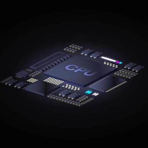 Vector van CPU-conceptontwerp