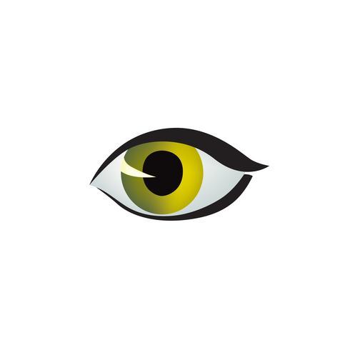 Oog pictogram. Gekleurd oogontwerp in kattenstijl. Cat eye-stijl vector