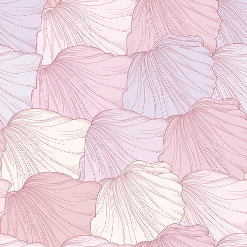 Bloemen naadloos patroon, gegraveerde bloembloemblaadjes. Bloei textuur vector