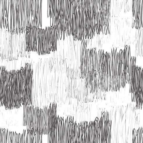 Abstract geometrisch naadloos patroon. Lijn getrokken tegel textuur vector