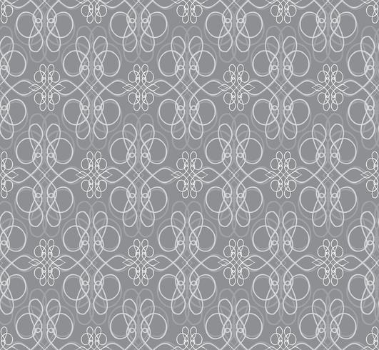 Swirl bloemmotief. Abstract ornament. Brocade naadloze achtergrond vector