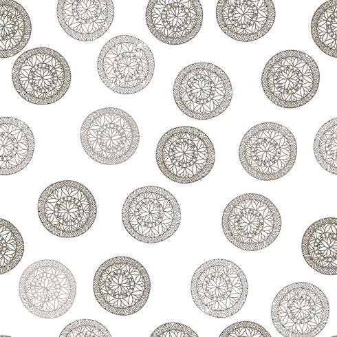 Abstract geometrisch patroon. Bloemencirkel oosterse etnische achtergrond. vector