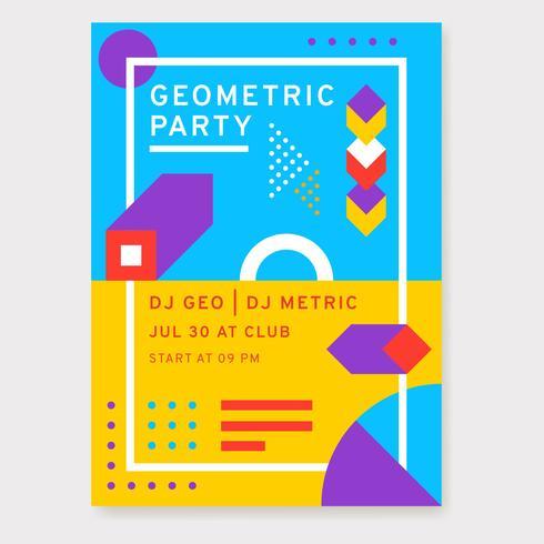 Geometrische partij posterontwerp vector