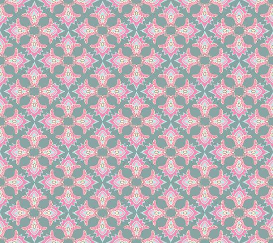 Naadloos bloemenpatroon Abstract bloemenornament. Oosterse stoffentextuur vector