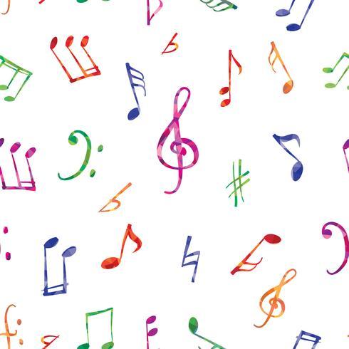 Muziek patroon. Muzieknota's en tekens naadloze achtergrond vector