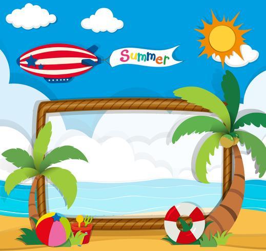 Grensontwerp met zomerthema vector