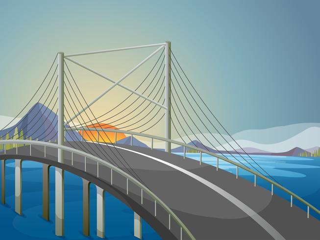Een lange brug vector