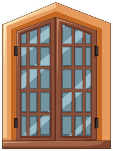 Raamontwerp met houten frame vector